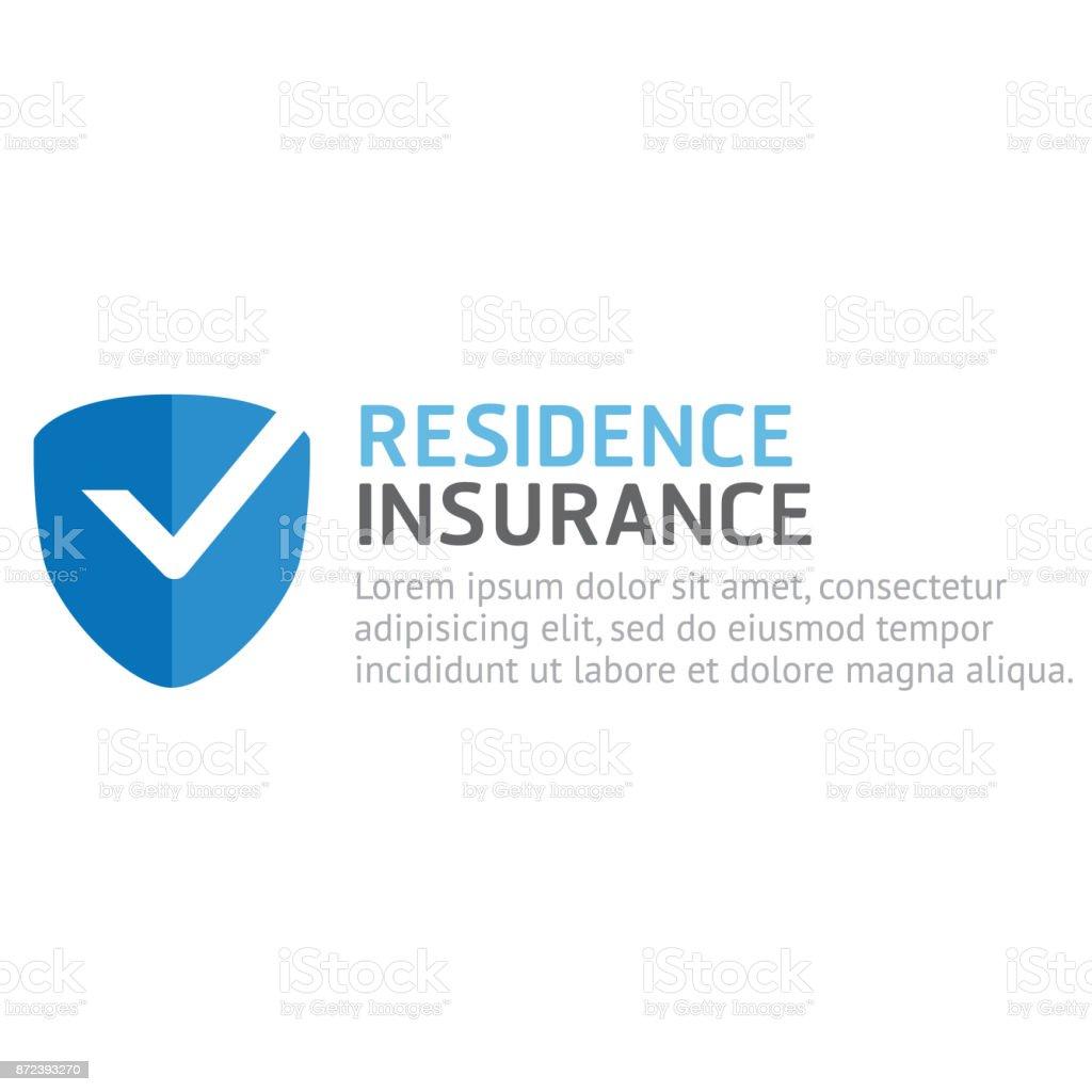 vecteur d'assurance de résidence - Illustration vectorielle