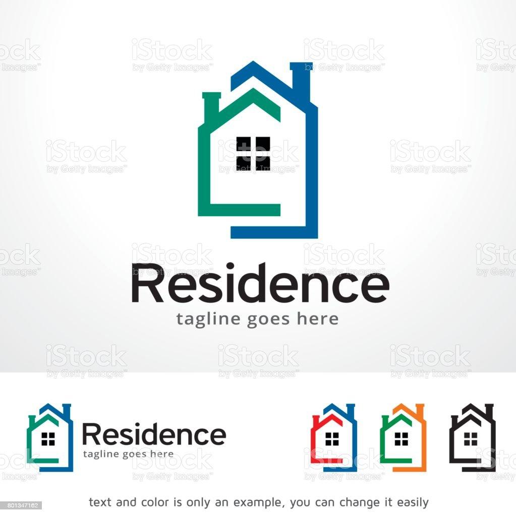レジデンス シンボル テンプレート デザイン ベクトル、エンブレム、デザイン コンセプト、創造的なシンボル アイコン ベクターアートイラスト
