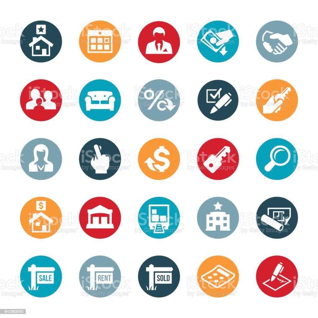 Residential And Commercial Real Estate Icons Stock Illustration Download Image Now Istock