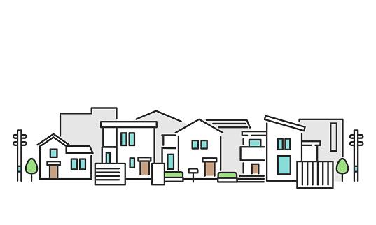 Residential area lamndscape