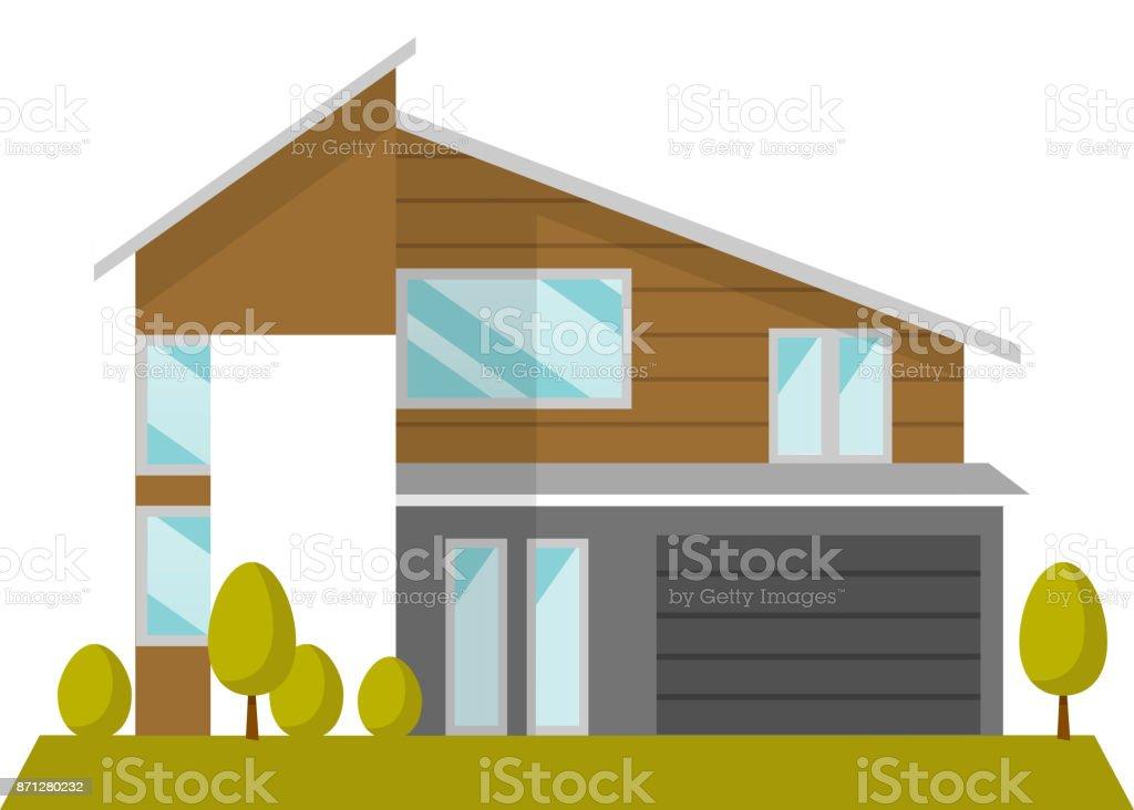 Illustration de dessin animé pour le vecteur maison d'habitation - Illustration vectorielle