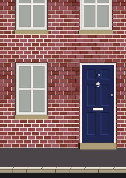 residential house - türklopfer stock-grafiken, -clipart, -cartoons und -symbole