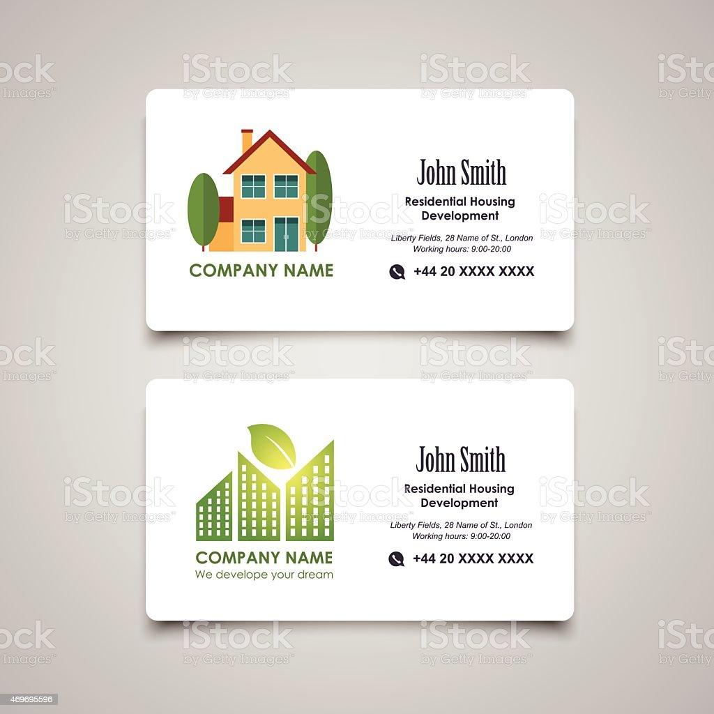 Hebergement Residentiel De Developpement Ou Louer Modele De Carte De