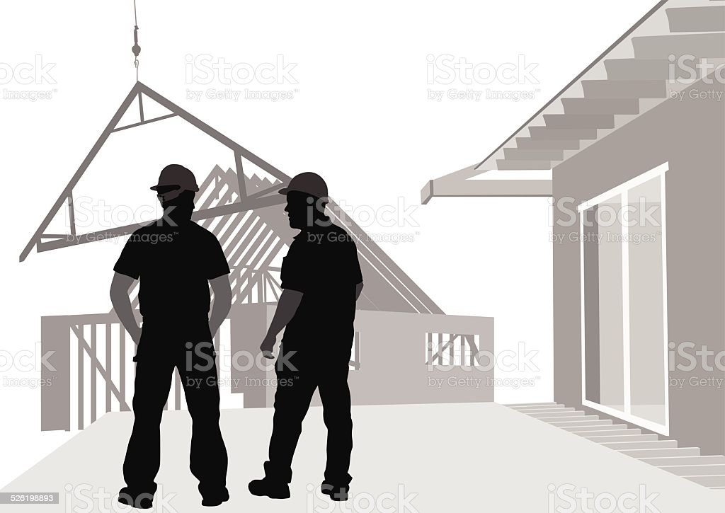 ResidentialConstruction vector art illustration