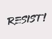 Resist lettering. Fight as a girl. Don't give up