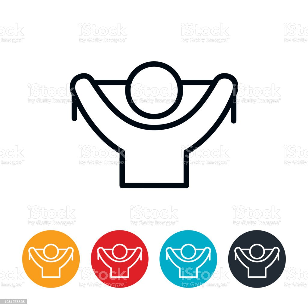 Resistance Band Workout Icon vector art illustration