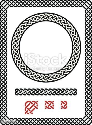 istock Resizable seamless Celtic frame 165761171