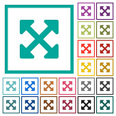 Resize full alt flat color icons with quadrant frames