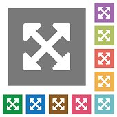 Resize full alt square flat icons