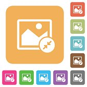 Resize image small rounded square flat icons