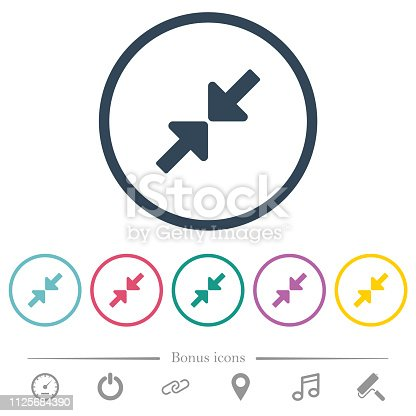 istock Resize small flat color icons in round outlines 1125684390