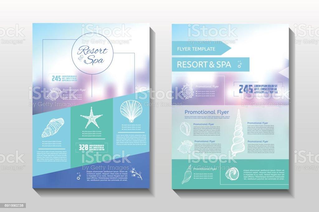Resort and spa flyer vector art illustration