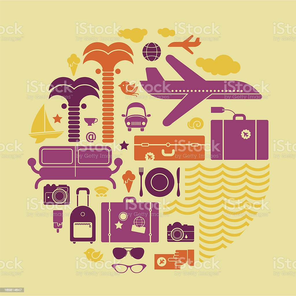Resort symbols royalty-free stock vector art