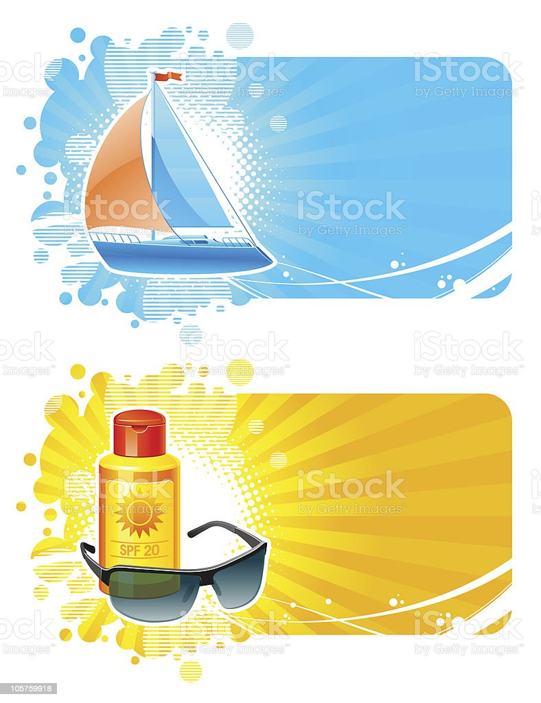 Resort & travel vector frames royalty-free stock vector art