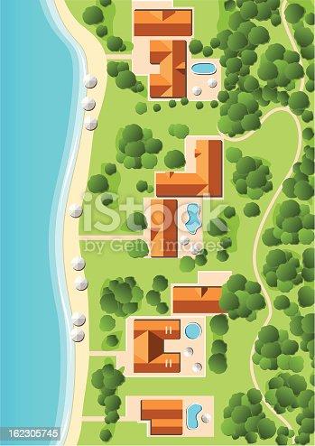 istock Resort with Coastline 162305745