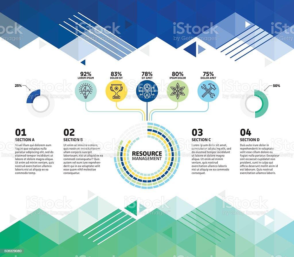 Ressourcen Infografik abstrakter Hintergrund – Vektorgrafik