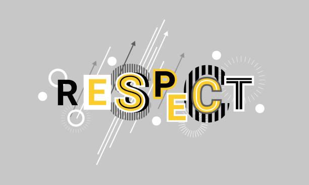respekt und wertschätzung webbanner abstrakte vorlagenhintergrund - autorität stock-grafiken, -clipart, -cartoons und -symbole