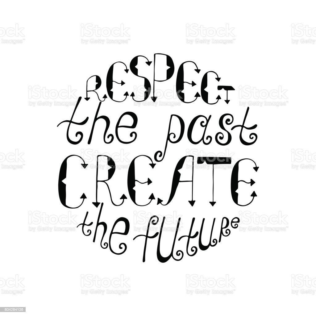 Create A Quote Respect The Past Create The Future Inspirational Quote Stock