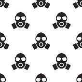 respirator, vector seamless pattern, Editable can be used for web page backgrounds, pattern fills