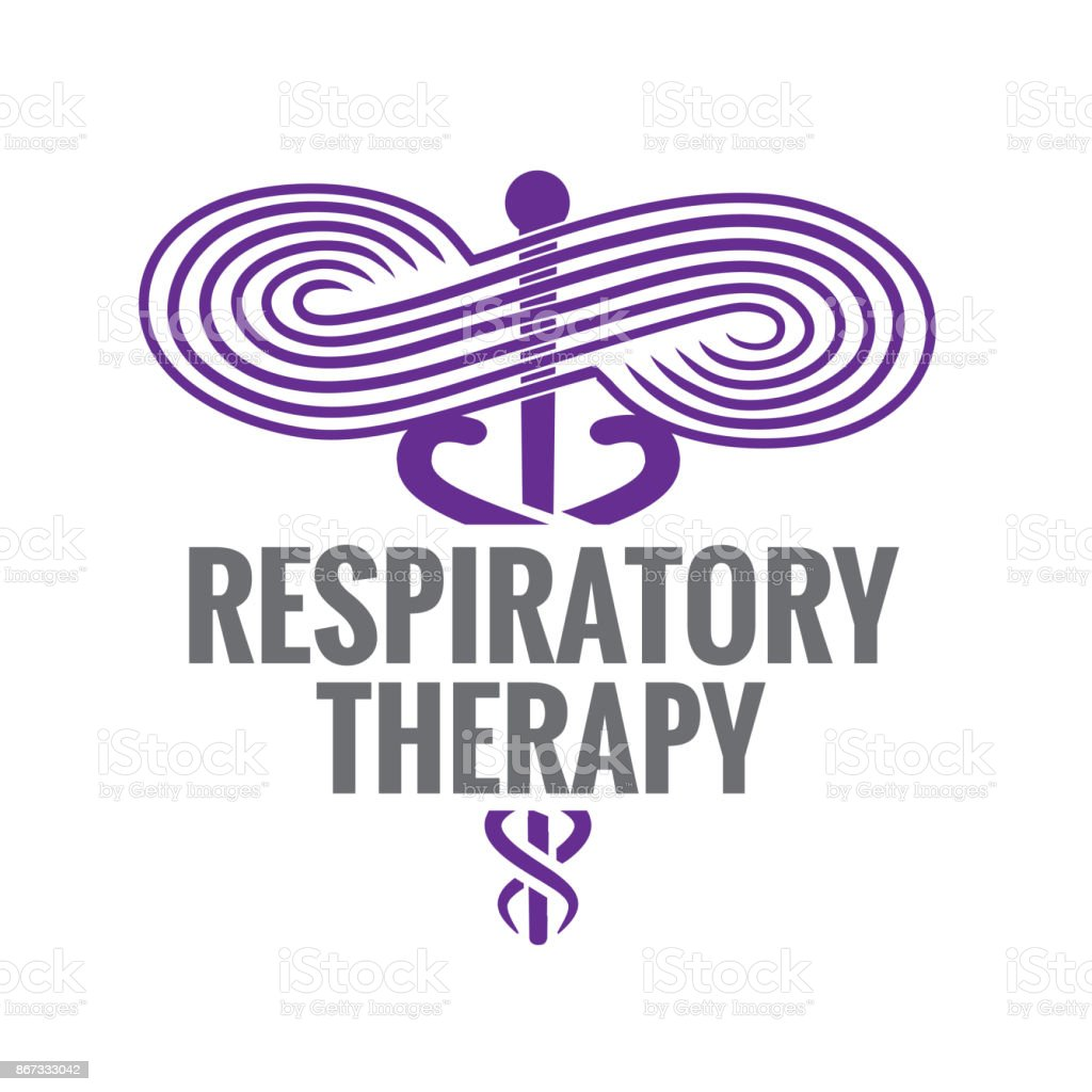 Respiratory Therapy Medical Symbol Icon - for RRT, RT or CRT vector art illustration