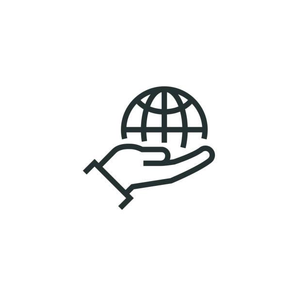 Responsibility Line Icon Responsibility Line Icon corporate responsibility stock illustrations