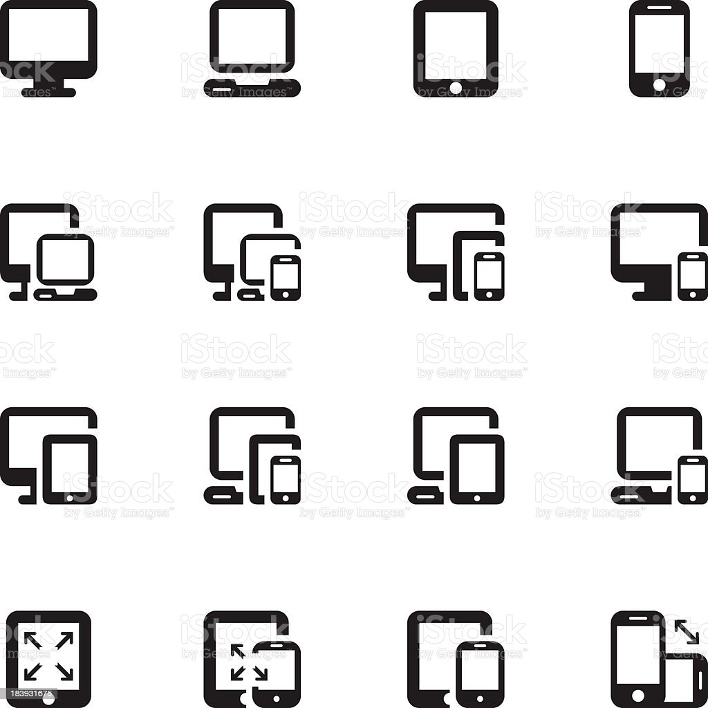 Responsive Design Icons - Pixel Perfect vector art illustration
