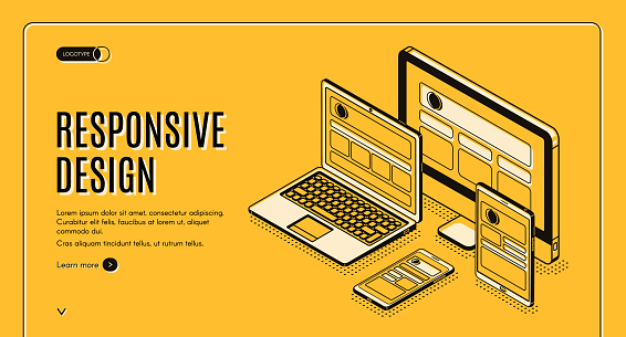 Responsive design landing page, page construction