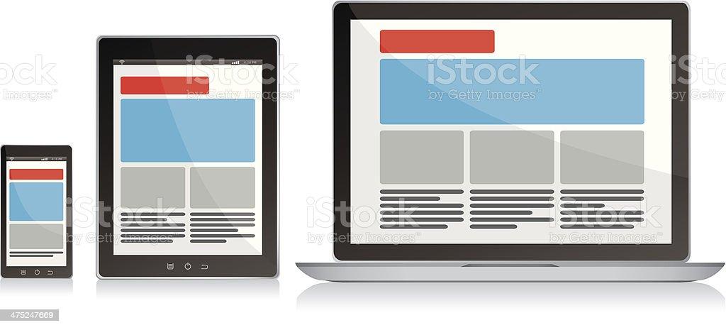 Responsive design royalty-free responsive design stock vector art & more images of adjustable