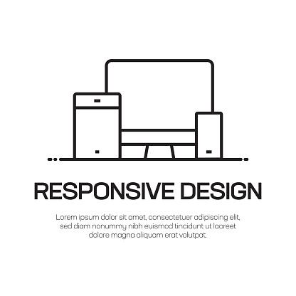 Responsive Design Vector Line Icon - Simple Thin Line Icon, Premium Quality Design Element