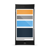 Modern responsive web design coding concept smartphone vector