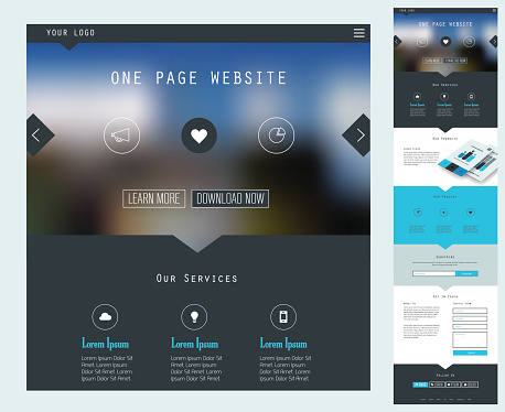 Responsive landing page design template