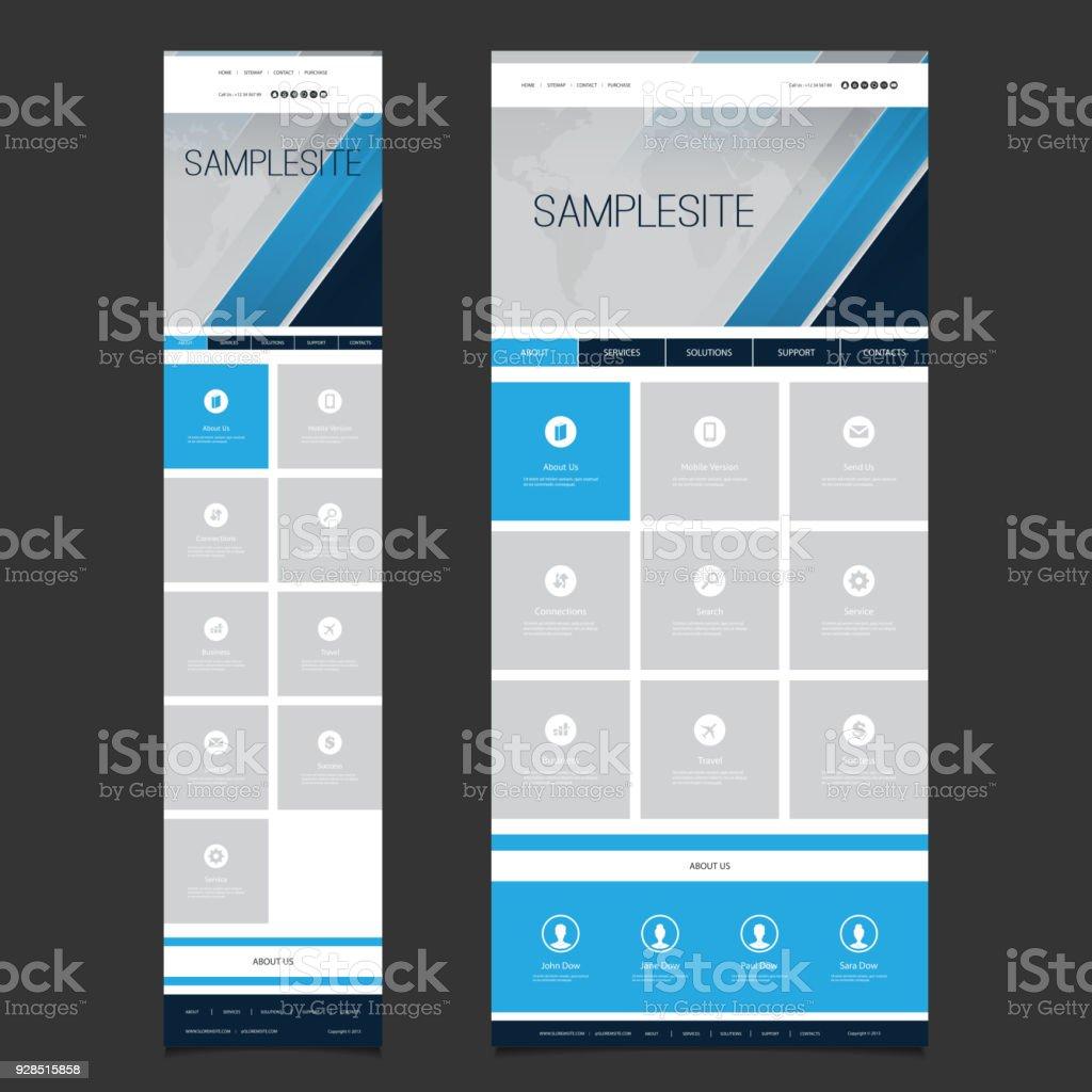 Ansprechende One Page Website Vorlage Stock Vektor Art und mehr ...
