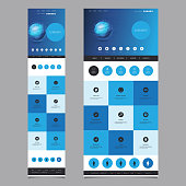 Desktop and Mobile Version - Modern Colorful Abstract One Page Web Site Creative Design, User Interface Layout, Presentation Template Illustration for Your Business or Blog - Freely Scalable and Editable Vector Format Included