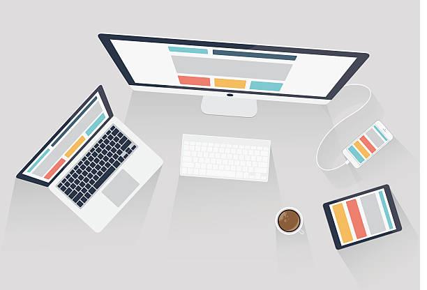 Responsive web design et Développement web vector illustration - Illustration vectorielle