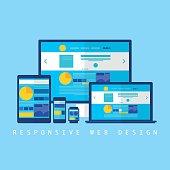 Responsive Web Design - Illustration - Eps 10