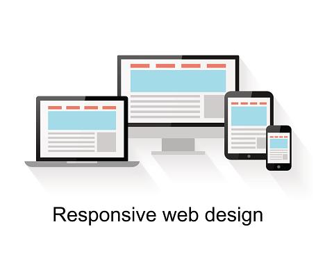 Responsive Web Design On Computer - Htmlのベクターアート素材や画像を多数ご用意