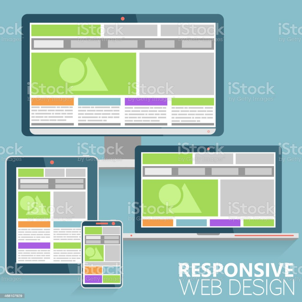 Responsive Web Design royalty-free responsive web design stock vector art & more images of backgrounds