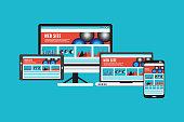 Web Page,Responsive ,web design, Digital Tablet, Computer, Laptop, Cooperation