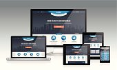 Modern responsive website design layout with multiple device. -EPS10 vector file -