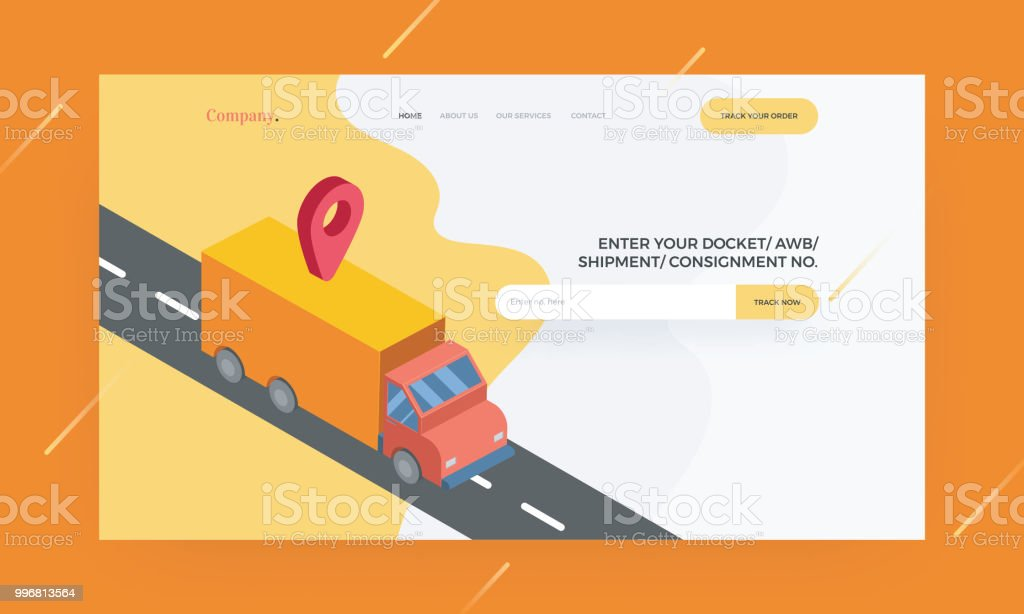 Responsive Website Template Or Hero Banner Design With Mapping And on