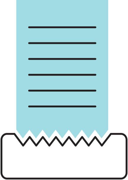 Icono aislado de la cuenta de restaurante - ilustración de arte vectorial