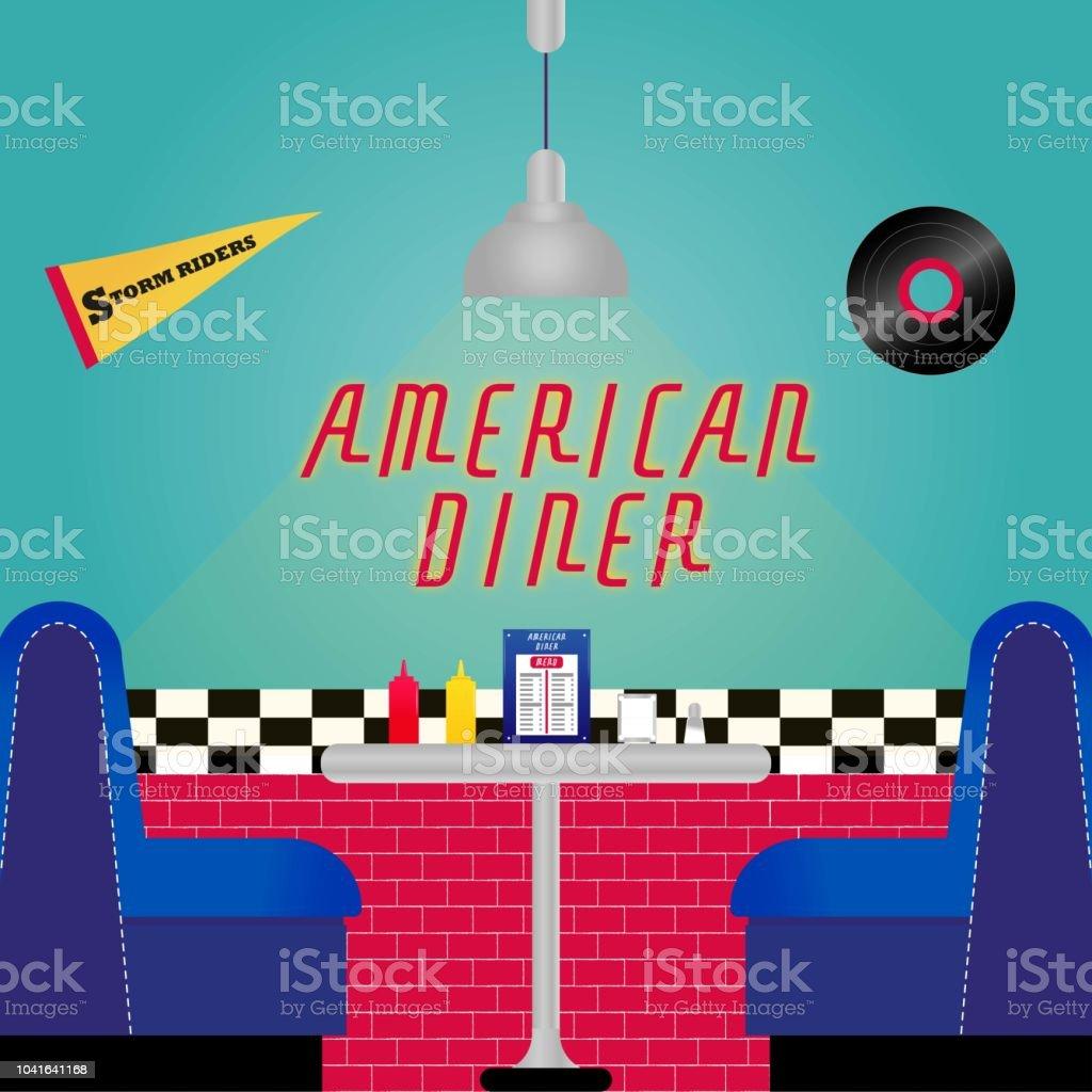 Vetores De Restaurante American Diner E Mais Imagens De Almoco Istock