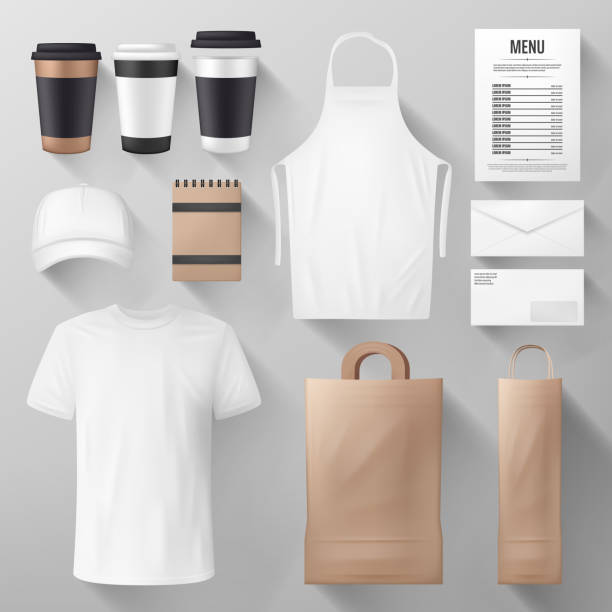 Restaurant and cafe corporate identity template vector art illustration