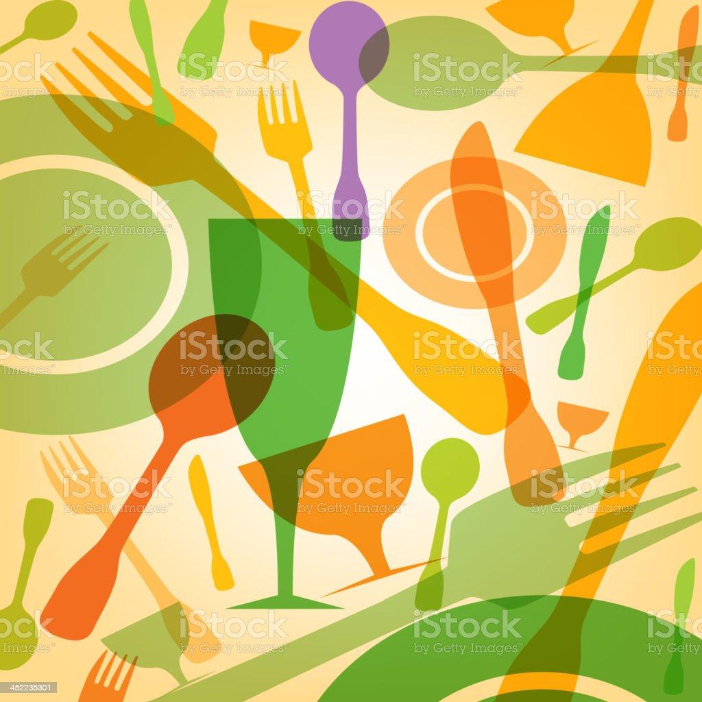 Restaurant Art vector art illustration