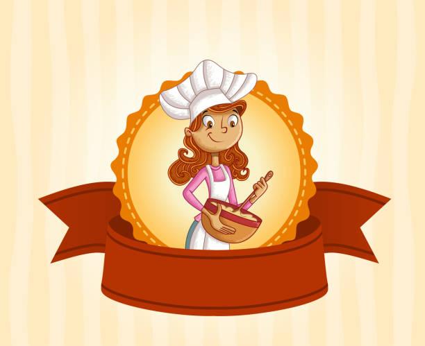 Vectores De Plantilla De Menú Del Chef Mujer De
