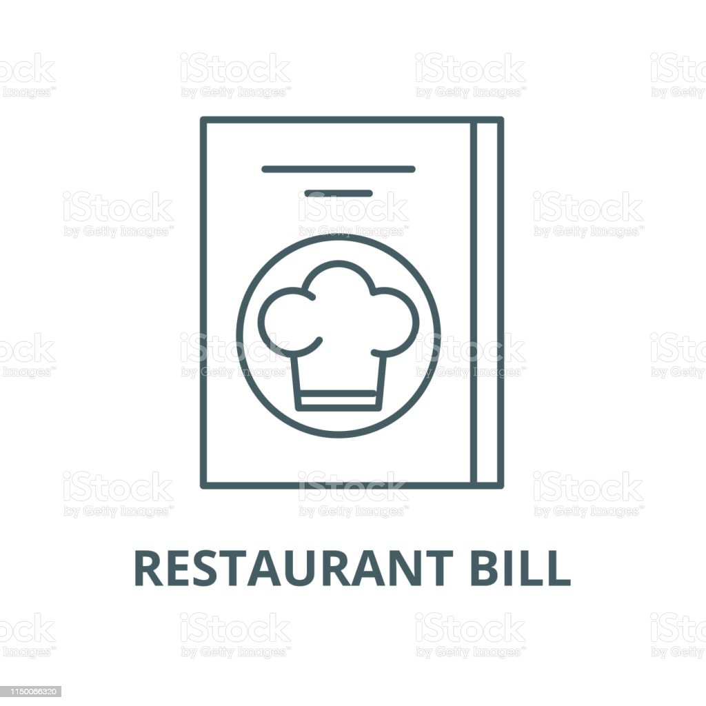 Restaurant bill vector line icon, linear concept, outline sign, symbol