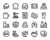 Restaurant Bold Line Icons Vector EPS File.