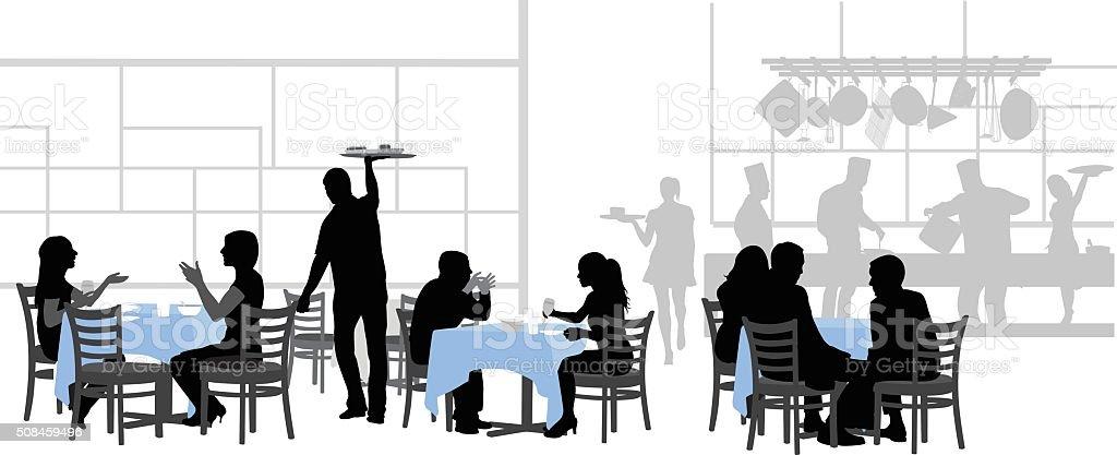 Restaurante Bonne mesa - ilustración de arte vectorial