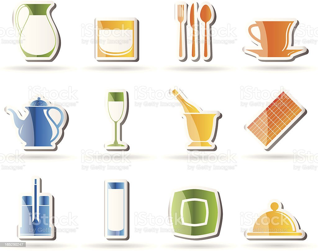 restaurant, cafe, bar and night club icons royalty-free restaurant cafe bar and night club icons stock vector art & more images of alcohol