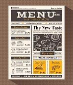 restaurant cafe menu design template